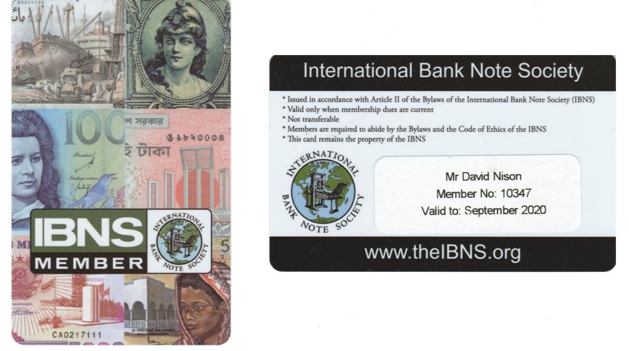IBNS carte de membre 2020