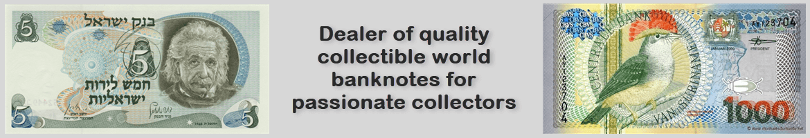World banknotes for passionate collectors